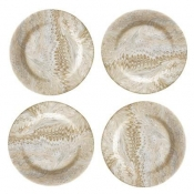 Juliska Firenze Cappucino Cocktail Plates - Set 4