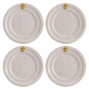 Acanthus Gold Cocktail Plate Set/4