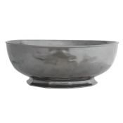 Pewter Stoneware Large Serving Bowl