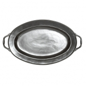 Pewter Stoneware Turkey Platter