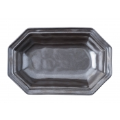 Pewter Stoneware Octagonal Serving Bowl - 10""