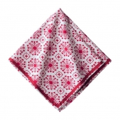 Set of 6 /  Snowflake Ruby Napkin