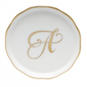 Herend Monogram Coaster - A