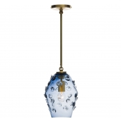 Juliska Florence Smoke Blue Diamond Pendant - Brass