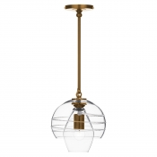 Juliska Amalia Petit Double Shade Pendant - Brass
