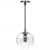 Juliska Amalia Petit Double Shade Pendant - Nickel