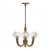 Juliska Florence Double Shade on Paris Chandelier - Brass