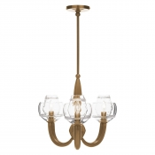 Juliska Dean Double Shade on Paris Chandelier - Brass