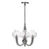 Juliska Dean Double Shade on Paris Chandelier - Nickel