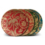 Fortuny Dessert Plates / Set 4   Assorted Colors