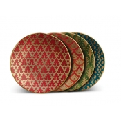 Fortuny Canape Plates / Set 4 - Assortment 4 Colors