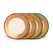 Fortuny Dinner Plates / Set 4 Assorted Colors