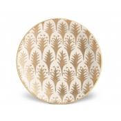 Fortuny Canape Plate  - Piumette White + Gold / Set 4