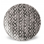 Fortuny Canape Plate - Tapa Black + Platinum / Set 4