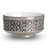 Fortuny Cereal Bowls -Tapa Black + Platinum / Set 4
