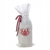 Juliska Reindeer Games Merry Christmas Ruby Wine Bag
