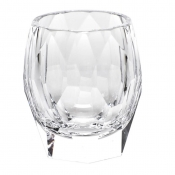 Moser Crystal Cubism Old Fashion - Clear