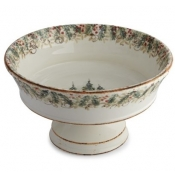 Arte Italica Natale Footed Serving Bowl