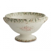 Arte Italica Natale Footed Bowl with Handles - 13.25""