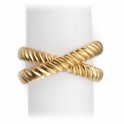 L'Objet Deco Twist Napkin Jewels / Set 4 - Gold