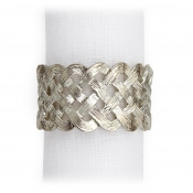 L'Objet Braid Napkin Jewels / Set 4 - Platinum