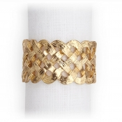 L'Objet Braid Napkin Jewels / Set 4 - Gold