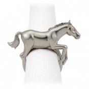L'Objet Horse Napkin Jewels / Set 4 - Platinum