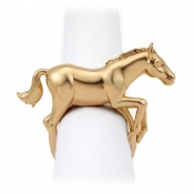L'Objet Horse Napkin Jewels / Set 4 - Gold