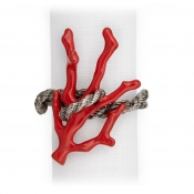 L'Objet Coral Napkin Jewels / Set 4 - Platinum