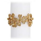 L'Objet Garland Napkin Jewels / Set 4 - Gold + Yellow Crystals