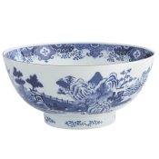 Mottahedeh Blue & White Punch Bowl