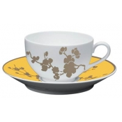 Ombrages Tea Saucer Extra Yellow
