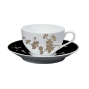 Ombrages Tea Saucer Extra Black