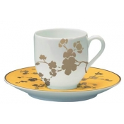 Ombrages Yellow Coffee Saucer