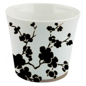 Ombrages Candle Pot Black