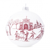 Juliska Country Estate Winter Frolic Ruby Glass Ornament - 2020 Limited Edition