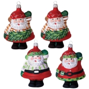 Old Saint Nick Vietri Old Saint Nick Assorted Santa Shaped Ornaments