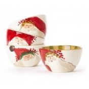 Old Saint Nick Cereal Bowls - Assorted Set 4
