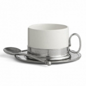 Arte Italica Tuscan Cappuccino Cup & Saucer with Spoon