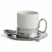 Arte Italica Tuscan Espresso Cup & Saucer with Spoon