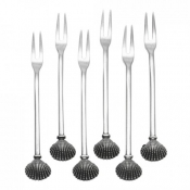 Marina Peltro Shell Seafood Fork Set of 6  (New)
