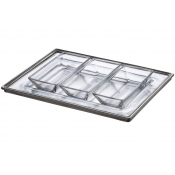 Arte Italica Tavola Rectangular Tray & Dipping Bowl Set