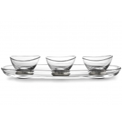 Arte Italica Tavola Oval Tray and Dipping Bowl Set