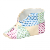 Herend Baby Shoe - Patchwork