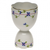 "Blue Garland DOUBLE EGG CUP  4""H"
