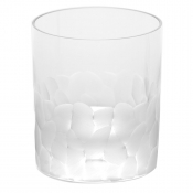 Moser Crystal Pebbles Double Old Fashion - Clear