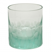 Moser Crystal Pebbles Double Old Fashion - Beryl