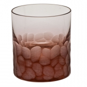 Moser Crystal Pebbles Double Old Fashion - Rosalin