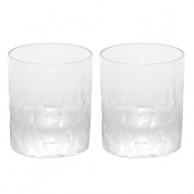 Moser Pebbles Double Old Fashion Set/2 Clear