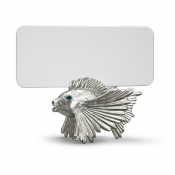 Fish Place Card Holders - Platinum + Blue Crystals / Set 6